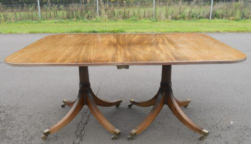 Mahogany Twin Pillar Dining Table to Seat Ten